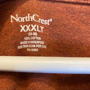 Northcrest Shirts - Northcrest mens 3/4 button long sleeve shirt